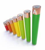 Energy Efficiency Batteries — Foto de Stock