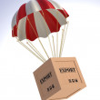 Export Box and Parachute — Stock Photo #53460411