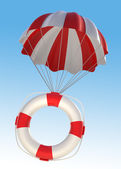 Life Saver and Parachute — Stock Photo