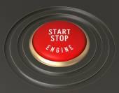 Engine Start - Stop Button — 图库照片