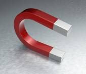 Horseshoe Magnet on Steel — Stock Photo