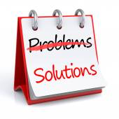 Solutions and Problems — Stock Photo
