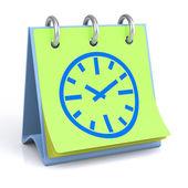 Calendar with Clock — Stock Photo