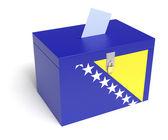 Bosnia and Herzegovina Flag Ballot Box — Stock Photo