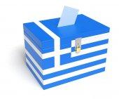 Greek Flag Ballot Box — Stock Photo