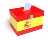 Spanish Flag Ballot Box — Stock Photo