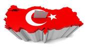 Turkish Map Flag Ballot Box — Stock Photo