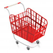 Empty Red Shopping Cart. — Stock Photo #60470429