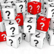 Stack of Cubes with Question Mark — Stock Photo #62540229