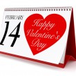 Valentine's Day Calendar — Stock Photo #63104157