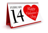 Valentine's Day Calendar — Stock Photo