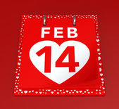 день святого валентина календарь — Стоковое фото