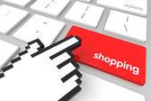 покупки введите ключ — Стоковое фото