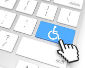 Accessibility Enter Key — Stock Photo