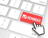 Reminder Enter Key — Stock Photo