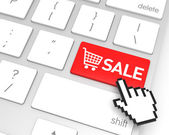 Sale Enter Key — Stock Photo