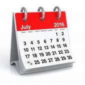 2016 年 7 月 - デスクトップ スパイラル カレンダー — ストック写真