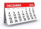 December 2016 Calendar — Stock Photo
