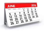 June 2016 Calendar — Stock Photo