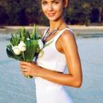 Fashion portrait of tender stylish bride — Stock Photo #62162991