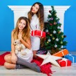 Holiday portrait of two best friends — Stock Photo #62168125