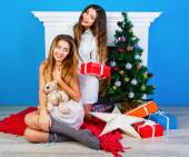 Holiday portrait of two best friends — Stock Photo