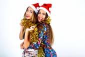 Girls ready for celebrating New Year — Stockfoto
