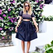 Blonde woman wearing stylish outfit — ストック写真 #75374791