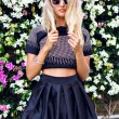 Blonde woman wearing stylish outfit — Stockfoto #75374817