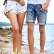 Hipster couple in love travel together — Stock Photo #75375499