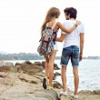Hipster couple travel together — Stock Photo #75375611
