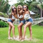 Girls having fun at summer time — Stock Photo #75375681
