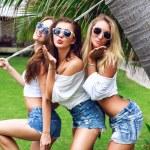 Girls having fun at summer time — Stock Photo #75377649