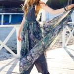 Woman posing in trendy maxi dress — Stock Photo #75377831