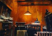 Old vintage workspace — Stock Photo