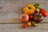 Different types of tomatoes — Stock Photo