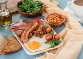 Full English breakfast — Stock Photo