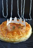 French traditional king epiphany pastry — Stock Photo
