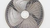 AC condenser fan. — Stock Photo