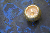Golden candle — Stock Photo