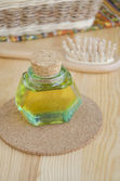 Small bottle of cosmetic oil — Stock Photo