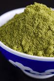 Henna powder in a bowl — Stock Photo