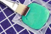 Kosmetik & Maske (Peeling) mit Algenextrakt — Stockfoto