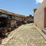 Typical souvenir street market in Trinidad — Stock Photo #52145507