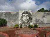 Che Guevara stone mosaic in Matanzas — Stock Photo