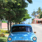 Old fashioned cuban car — Stock Photo #52395955