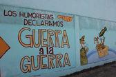 Humorists against war — Stock Photo