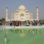 People around The Taj Mahal, India — Stock Photo #52831973