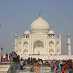 People around The Taj Mahal, India — Stock Photo #52831979