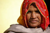 Old Indian woman portrait — Stock Photo